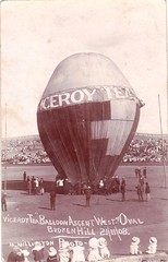 Viceroy Tea balloon ascent West Oval, Broken Hill, N.S.W. - 21 November 1908 (Aussie~mobs) Tags: balloon australia advertisement event brokenhill 1908 westoval viceroytea