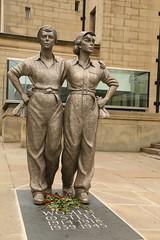 """Women Of Steel """"Explored"""" (Derbyshire Harrier) Tags: city summer sculpture sheffield wwi wwii explore southyorkshire 2016 barkerspool explored womenofsteel martinjennings memorialtothewomenofsteel"""