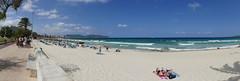 vorm Deich (rainer.marx) Tags: leica panorama beach strand lumix meer urlaub panasonic holliday spanien malorca calamillor fz1000