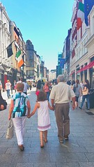 strolling grafton street dublin can be heaven in the sunshine (dannydalypix) Tags: granddaughter grandparents graftonstreet dublin