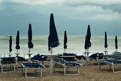 Against the Wind (luca_pictures) Tags: marche italy numana sea seastorm beach beachumbrellas close closed wind noswim leefilter bigstopper nobody summer adriatic
