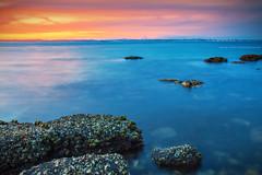 Little Beach Sunset || NELSON BAY || NSW (rhyspope) Tags: australia aussie nsw new south wales little beach nelson bay port stephens coast coastal sea ocean water sunrise sunset rhys pope rhyspope canon 5d mkii rocks mussels sky cloud colour color
