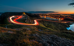 Signal Hill light trails.jpg (Rob Eyers) Tags: newfoundland lighttrails stjohns signalhill sunset hill citylights night lights