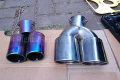 Old vs New (ND-Photo.nl) Tags: black silver mod citroen double tip chrome toyota dual 60mm modification tuning modding zwart peugeot 107 exhaust mods c1 aygo uitlaat aliexpress sierstuk