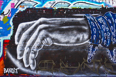 Bandit Peace in the Streets2 (Brett Landrum) Tags: street white streetart black streets art love canon photography graffiti la losangeles los war paint peace angeles homeless spray follow 2pac violence spraypaint bandit dtla tupac gangs bloods graffitiart sprayart crips canon7d banditstreetart banditart