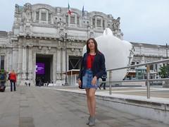 Milan - Central railway station (Alessia Cross) Tags: crossdresser tgirl transgender transvestite travestito
