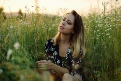 Kristna S. (minu_minu) Tags: girl woman portrait portraiture portret priroda nature summer leto letni sunset gold golden hour sun outdoor field meadow beautiful nice nikon d750 50mm