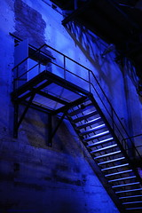 Blue Monday, Blue Factory (Maurits van den Toorn) Tags: blauw blau blue bleu trap treppe stairs staircase factory industry industrial industrie usine sugarcity halfweg bluemonday