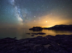 Split Rock State Park - Minnesota (Mike Plucker) Tags: park rock night stars star state great lakes superior greatlakes split lakesuperior milkyway splitrockstatepark