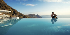 A man and his pool (rayplato) Tags: privacy poolside greece infinity