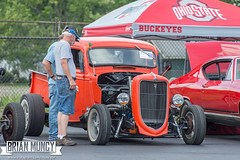 HotRodHulaHop16-0101 (Muncybr) Tags: carshow clemsspeedshop hotrodhulahop jeffmcgee photographedbybrianmuncy 1935 2016 289 bowling clems ford ohio sequoia truck columbus