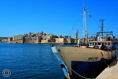 Looking towards the Three Cities (Michael N Hayes) Tags: malta valletta mediterranean europe summer threecities vittoriosa birgu fujifilmxpro1 sea culture city