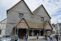 2016.06.28.028 HONFLEUR - Faade de l'glise Sainte-Catherine (alainmichot93 (Bonjour  tous)) Tags: 2016 france normandie seinemaritime honfleur architecture glise glisesaintecatherine faade colombages