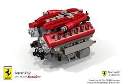 UCS Tipo F140 FC V12 Engine (lego911) Tags: ferrari f12 berlinetta coupe tdf tour de france v12 auto car moc model miniland lego lego911 ldd render cad povray 2016 2010s italy ltalian supecar sportscar lugnuts challenge 106 exclusiveedition exclusive edition ucs engine motor f140 fc tipo foitsop