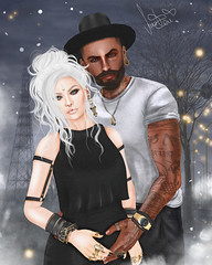Rike&Ray (Sunkora) Tags: secondlife photoshop 3d draw hair avatar boy girl women men cudle love cute street glow white