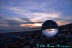 Different take on last nights sunset (ehawes15) Tags: stones coast summerevenings summer sun clouds sky crystalballphotography beach sunset