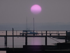 big sun 11/52 (auroradawn61) Tags: uk sunset sea england coast march purple dorset poole week11 2015 bigsun 52weeks explored hamworthy lumixtz25 52weeksin2015project 52weeksin2015