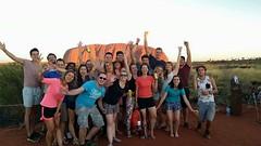 Coucher du soleil à Uluru