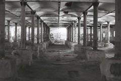 Maltings (goodfella2459) Tags: new white black abandoned film wales analog 50mm nikon factory south australia delta af nikkor 3200 milf ilford f4 maltings mittagong f14d