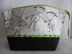 UtensilTaschen groß (blauer_jeansstern) Tags: grün schwarz tasche täschchen kosmetiktasche kinderstoff stiftetasche endlosreisverschlusstasche sonstigekleinigkeiten