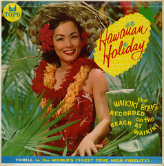 Hawaiian Holiday (Jim Ed Blanchard) Tags: woman holiday sexy boys girl strange vintage hawaii weird store leaf funny pretty waikiki album vinyl kitsch cheesecake palm novelty jacket thrift cover pineapple ugly lp hawaiian record sleeve kooky gitl