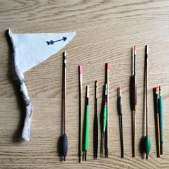 Vintage Fishing Rods (Claire_Sambrook) Tags: flag portsmouth stick projects fishingrods wintage