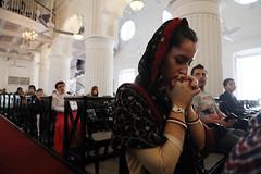 PRAYER TIME (pathikdebmallik) Tags: christmas india church lady interior kolkata calcutta armenian armenianchurch