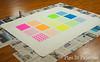 Basted quilt (pigsinpajamas) Tags: neon quilt fabric batting layercake basting backing jellyroll rileyblake