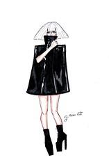 Lady Gaga Eras Pt.2: The Fame Monster (G-nuinart) Tags: original black art monster lady dark 1 artwork dress arte drawing fame mother lg blonde week designs dibujo diseo gaga littlemonster gaa eras artpop famemonster