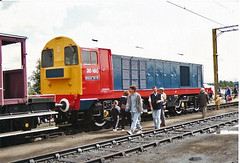 20160 Bescot (British Rail 1980s and 1990s) Tags: train chopper br diesel shed rail railway loco trains depot locomotive 20 britishrail nineties 1990s ee 90s type1 openday livery lmr tmd englishelectric 20160 class20 bescot londonmidlandregion liveried
