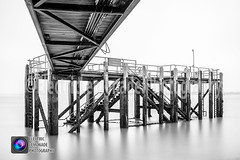 Calshot Jetty (Electric Lemonade Photography) Tags: park wood longexposure bridge sea white black wooden fuji jetty filter national lee solent nd fujifilm custom newforest whitebalance groynes calshot weldingglass neutraldensity xt1 marksimpson bigstopper electriclemonadephotography fujixt1