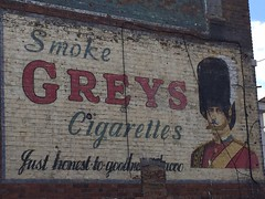 Photo of Greys Cigarettes ghost sign