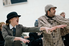1JAC1757_bm-bp_150329 (_husky_) Tags: uk london or places bp britishmuseum britishpetroleum creativeprotest deepwaterhorizon fujixt1 antibpprotest detectiveflashmob theatricalprotest tobpornotbp