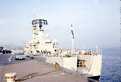 Dutch Warship Greenock Aug 1967 (shipcard) Tags: riverclyde greenock warship leanderclass royalnetherlandsnavy