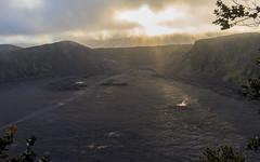 Kīlauea Iki (scojones) Tags: sunset volcano hawaii lava steam crater bigisland volcanonationalpark kilauea vog kīlaueaiki sonya7 cloudsstormssunsetssunrises sel35f28z sonnartfe35mmf28za