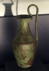 Etruscan bronze oinochoe with highswung handle found at Tangier (diffendale) Tags: museum ancient display exhibit muse morocco maroc marocco museo artifact archaeological marruecos antico tangier marokko tanger tangiers fas mzesi archeologico arkeoloji   musedelakasbah  kasbahmuseum almarib  marocum  faskrall lmarib musedalkasbah pleiades:findspot=275736