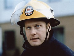 Malcolm Cross (markkirk85) Tags: london station television fire burning firefighter londons brigade lwt blackwall