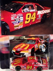 #51-14, Bill Elliott, #94, McDonald's, Pictures With Real Hot Wheels Cars & Their Diecast (Picture Proof Autographs) Tags: photograph photographs inperson pictureproof photoproof picture photo proof image images collector collectors collection collections collectible collectibles classic authentic authenticated real genuine diecast auto autos vehicles vehicle model toy toys automobile automobiles autoracing sport sports nascar series winstoncup sprintcup busch nationwide hotwheels fred frederick weichmann
