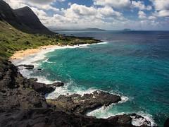 love and peace !!! (688) (oksana8happy) Tags: ocean beach rock hawaii coast oahu turquoise wave makapuubeachpark makapuubeach windwardcoast