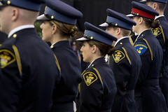 OPP Graduation, Fall 2014 (ontarioprovincialpolice) Tags: ontario women uniform jobs young graduation ceremony hiring cop grad officer career opp constable recruit capecroker ontarioprovincialpolice