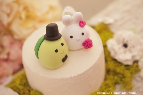 Bunny, Rabbit and Turtle wedding cake topper - a photo on Flickriver