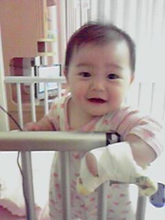 長女10ヶ月 入院中の一コマ