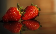 Strawberries in summer (sneaky winey) Tags: summer macro fruits canon strawberry strawberries