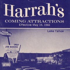 Harrah's Coming Attractions - Lake Tahoe - May 1966 (hmdavid) Tags: vintage tahoe southlaketahoe california harrahs casino 1960s brochure pamphlet 1966 ad jimnabors