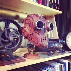 Out masks are good enough to be displayed as art. #Facemask, #Cyberpunk, #CyberGoth, #goggles, #cybergothgirl, #punkgirl, #cyberpunkgirl, #postapocalyptic, #postapocalypse, #black, #steampunk, #steampunkmask, #leathermask, #handmade, #LARP, #plaguedoctor, (tovlade) Tags: black girl face make up leather punk hand mask goth goggles made doctor cyber cybergoth cyberpunk plague larp steampunk postapocalyptic postapocalypse dieselpunk
