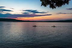 night kayaking (david_sharo) Tags: sunset water night clouds landscape kayak lakes davidsharo