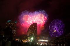 Yokohama fireworks 2016  (runslikethewind83) Tags: japan yokohama fireworks hanabi kanagwa color colors ferriswheel building festival summer 2016 pentax pentaxkx people asia light nightphotography night