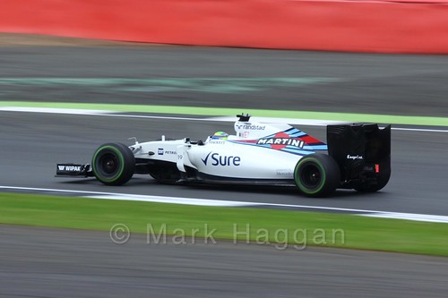 Felipe Massa in his Williams during Free Practice 3 at the 2016 British Grand Prix