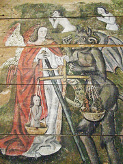 St Peter, Wenhaston, Suffolk (amandabhslater) Tags: suffolk wenhaston church doom painting lastjudgement tympanum wood panel