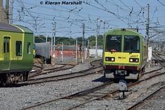8607+8608+86xx+86xx arrive at Connolly, 19/7/16 (hurricanemk1c) Tags: dublin irish train rail railway trains railways dart irishrail 2016 connolly iarnrd 8607 ireann iarnrdireann class8500 tokyucarcorp 1402malahidegreystones